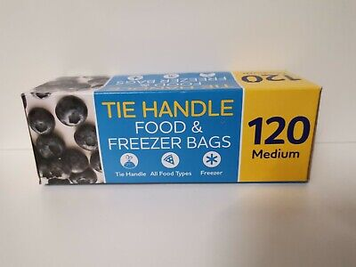 £5.99 • Buy 120 MEDIUM - Tie Handle - FREEZER BAGS USE FOR FOOD OR OTHER STORAGE USE