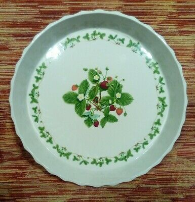 £27.50 • Buy LARGE VINTAGE PORTMEIRION SUMMER STRAWBERRIES FLAN OR QUICHE DISH 31 Cm
