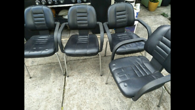 AU40 • Buy 4 Leather Chairs - Black - High Quality