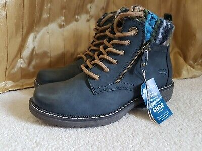 BNWT Pavers Relife Blue Ankle Boots Shoes Winter Warm Size 5 RRP £74.99 UK 6 39 • 54.99£