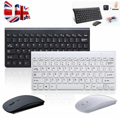Ultra Slim Wireless/Wired Keyboard W/Mouse Kit 2.4GHz For Apple IMac PC Computer • 15.19£