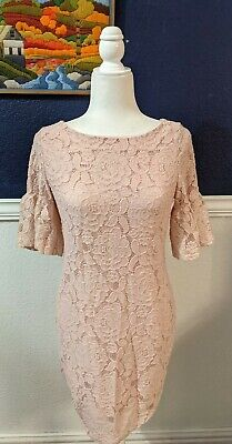 $ CDN44.25 • Buy Ivanka Trump Stretch Pink Lace Shift Dress Sz 8 Medium M $158