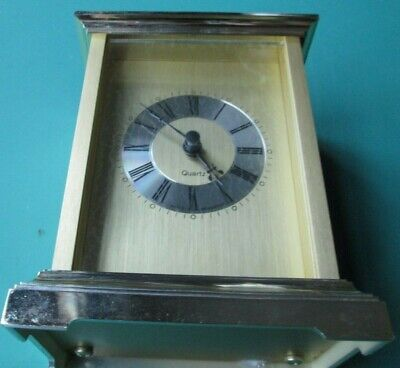 £14.50 • Buy Stunning WORKING Swiss Movement Gold Quartz Carriage Clock Mint Condition
