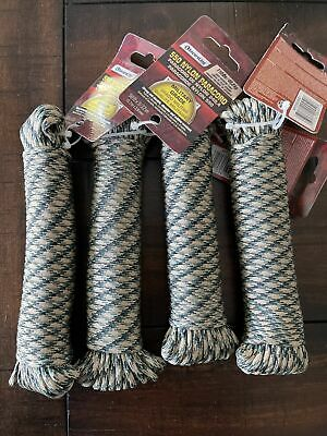 $15 • Buy SecureLine 50' CAMOUFLAGE Braided Nylon PARACORD Military Grade Rope 110 Lb. 4x