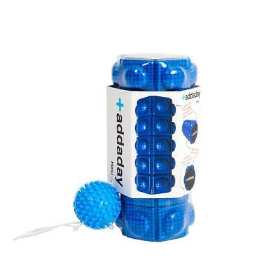 AU41.44 • Buy Addaday Hexi Foam Roller Grid Trigger Point Set With Spikey Foot Massage Ball