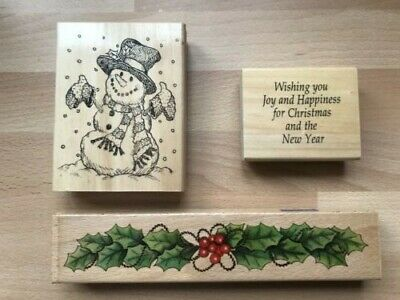 £7.50 • Buy Christmas Docraft/Anita's Vintage Rubber Wooden Stamps-reduced From 9.95!