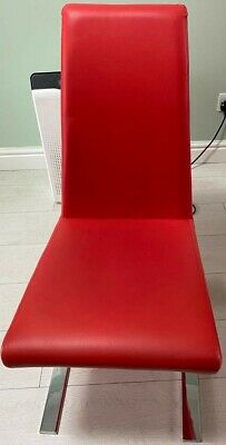 £350 • Buy Sets Of Five Red Z Shaped Dinning Chairs