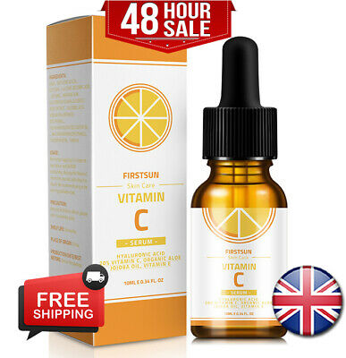 Vitamin C Serum 💜 Hyaluronic Acid Suitable For Anti Ageing Wrinkle Face Care ❤️ • 3.95£