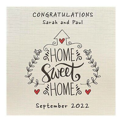 Handmade PERSONALISED New Home House Warming Card • 3.10£