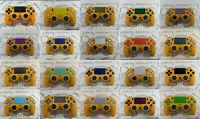 AU175.93 • Buy New Custom Sony PS4 Dualshock 4 Caution Yellow Controller - CHOOSE BUTTON COLOR