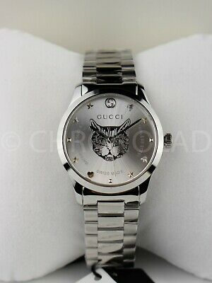 GUCCI G-Timeless YA1264095 Silver Dial With Cat Dial Unisex Watch 38 Mm Quartz • 349.99£
