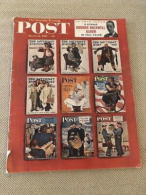 $ CDN27.68 • Buy Norman Rockwell Saturday Evening Post 12-page Album March 12, 1955