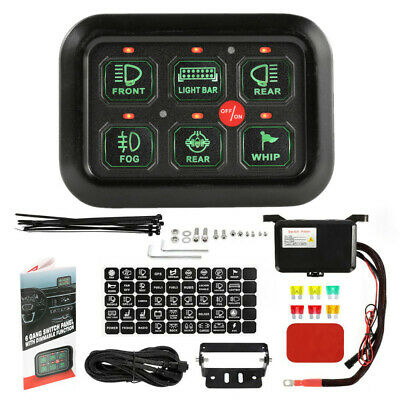 $99.99 • Buy 6-Gang Switch Panel Relay Electronic Circuit Control System LED Work Light Bar