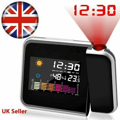 £7.99 • Buy LED Digital Backlight Projection Alarm Desk Clock Time Weather Thermometer Snooz