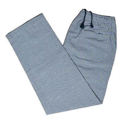 Chef Trousers Pant Gingham Check Kitchen Black & White Uniform Elasticated Food • 11.99£