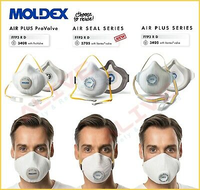 MOLDEX FPP3 Mask Reusable Washable Face Mask Valved Half Mask R D Respirator • 49.99£