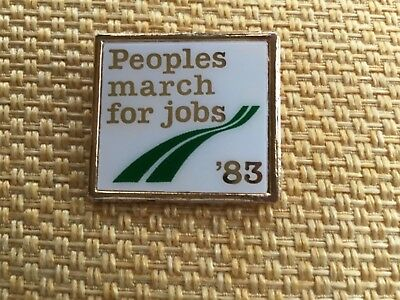 Peoples March For Job 1983 Political Campaign Badge Socialism Labour CPGB  • 4.99£