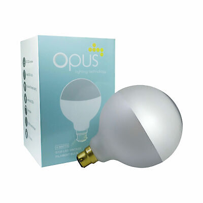 £14.99 • Buy Opus 4watt G125 Frosted Crown Silver Filament Globe LED BC B22 Warm White