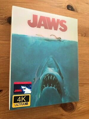 Film Arena Jaws 4K Steelbook. (Blu-ray) New And Sealed. Mint. • 190£
