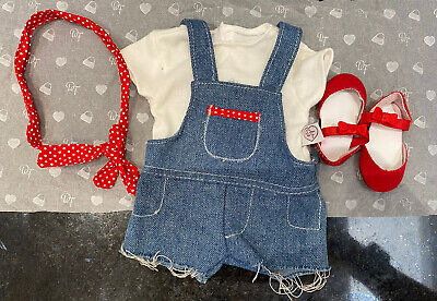 £18.99 • Buy Chad Valley DESIGN A FRIEND Doll ~ DENIM Shirt Dungarees 4 Piece OUTFIT  CLOTHES