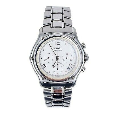 $ CDN2021.11 • Buy Authentic Ebel Vintage 1911 Stainless Steel Chronograph Automatic Watch