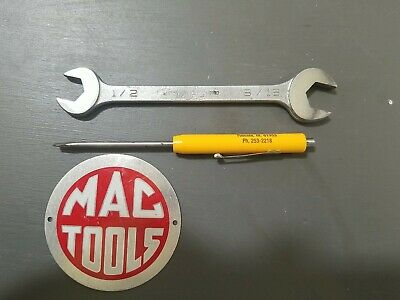 $15 • Buy Mac Tools Open End Wrench DR1618 Vintage Sabina 1/2 ×9/16
