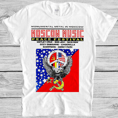 £9.59 • Buy Moscow Music Peace Festival T Shirt Ussr Poster Retro Vintage Gift Tee 5977