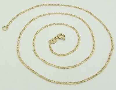 AU138 • Buy Solid 9ct Yellow Gold 5:1 Figaro Fine Link 45cm Neck Chain/necklace