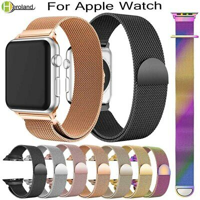AU7.99 • Buy Milanese Magnetic Loop Stainless Steel Strap IWatch Band For Apple Watch 44-38mm