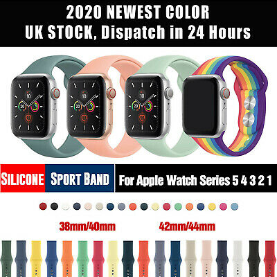 AU6.95 • Buy For Apple Watch Series 7 6 5 4 SE 3 2 1 38mm/44mm Soft Solicone Sport Band Strap