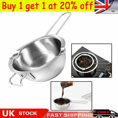 Stainless Steel Wax Melting Pot Double Boiler For DIY Wedding Scented Candle UK • 6.99£