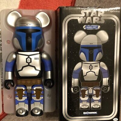 $399 • Buy Jango Fett 400% Bearbrick Star Wars Silver Authentic RARE Medicom US Seller