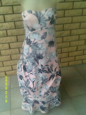 AU3.99 • Buy New Ladies  Asos  Pink/grey Strapless Dress Size  14 Us