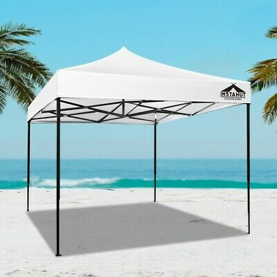 AU100.93 • Buy 3x3 M Gazebo Pop Up Marquee Outdoor Tent Folding Wedding Gazebos Durable White
