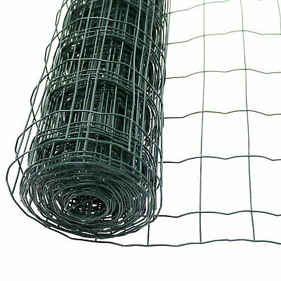 1.2m X 10m Green PVC Coated Galvanised Steel Wire Mesh Fencing Garden Euro Fence • 22.99£