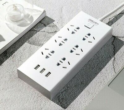 AU29.99 • Buy 6 Outlet Power Board With 3 Usb Ports , 3PIN/2PIN, 2m