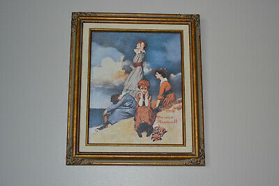 $ CDN31.37 • Buy Norman Rockwell  Waiting On The Shore  Replica Canvas Print