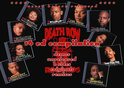 DeathRow Records - Rare 16 Disc Comp 2pac Snoop Daz Rage Dr Dre Nate Dogg Kurupt • 435£