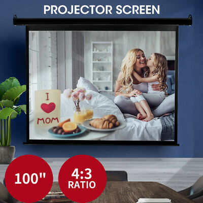 AU109.99 • Buy 100  Inch Projector Screen Electric Motorised Projection Retractable 3D Cinema