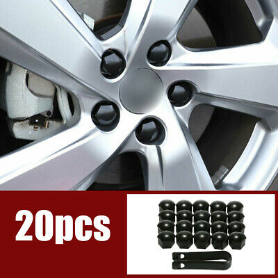 20Pcs 17mm Auto Car Wheel Lug Bolt Nut Covers Caps + Removal Tool Accessories • 3.19£