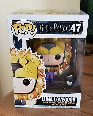 New Pop Funko Harry Potter Lionhead Luna Lovegood Vinyl Figure 47 Tiny Box Tear • 29.99£
