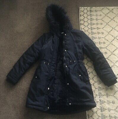 Girls Winter Coat Blue Zoo Age 11 - 12 Navy Debenhams • 1.99£