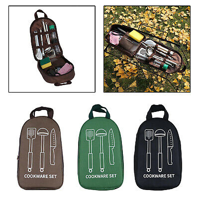 £10.99 • Buy Utensil Organizer Cookware Storage Bag Spoon Knife Pouch BBQ Tidy Carrier