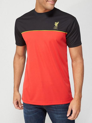 £11.99 • Buy Liverpool FC Men's Top Source Lab Short Sleeve Panel T-Shirt - Red/Black - New