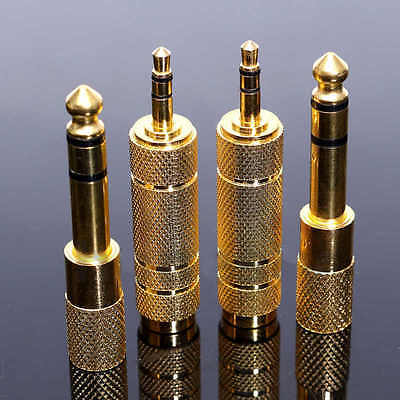 4x6.35mm 1/4 Male Plug To 3.5mm 1/8 Female Jack Stereo Headphone Adapter VQ S OR • 5.37£