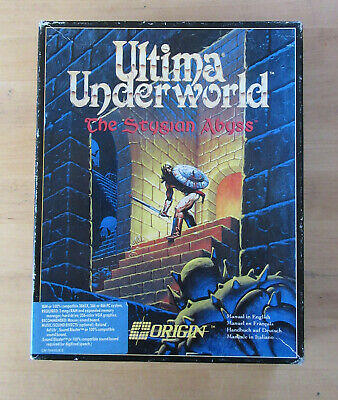 AU54.18 • Buy Ultima Underworld The Stygian Abyss Vintage PC Game Big Box 3.5 Inch Discs