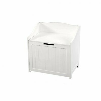 NEW! White Storage Toy Box Laundry Basket Organiser Chest With Easy Open Lid • 34.99£