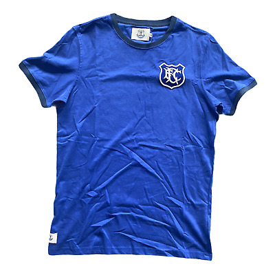 Everton Men's T-Shirt Fanatics Football Heritage Ribbed T-Shirt - Blue - New • 11.99£