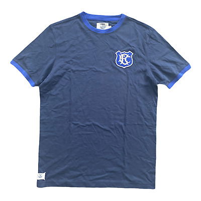 Everton Men's T-Shirt Fanatics Football Heritage Ribbed T-Shirt - Navy - New • 11.99£