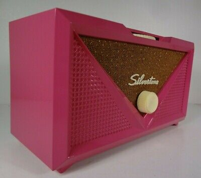 $ CDN126.87 • Buy Iconic 1954 Silvertone Model 3001 Radio Hot Pink Repaint Working